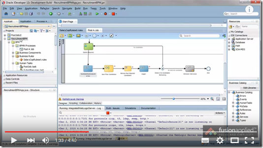 how to debug a bpm process in bpm 12c by fusion applied