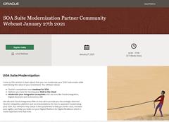 SOA Modernization PaaS Partner Community Webcast January 2021