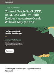 Accenture Oracle Connect SaaS webcast invite May 2021
