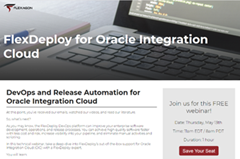 DevOps and Release Automation for Oracle Integration Cloud – Webcast May 13th 2021